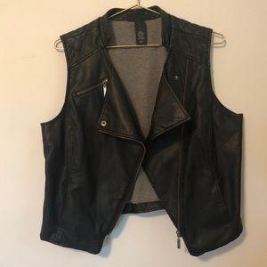 Faux Leather Lane Bryant Biker Vest